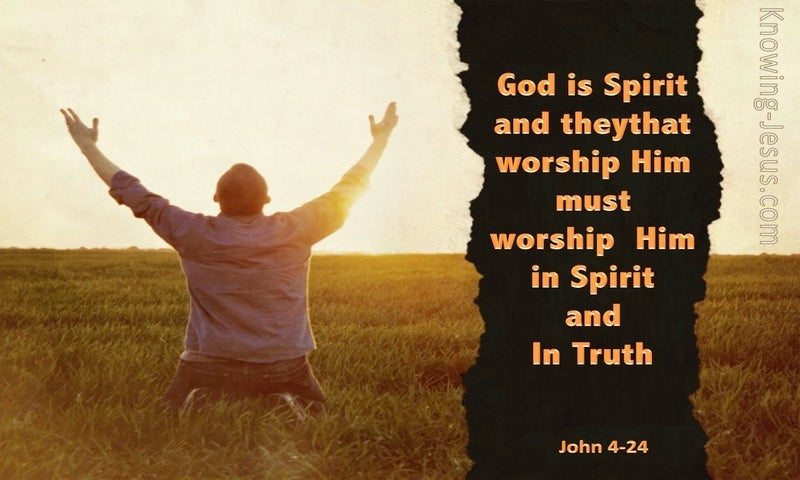 Worship in Spirit and Truth (devotional) (orange) - John 4:24